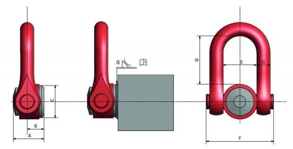 Anschlagwirbel 0958 WE.DSS zum Anschweißen, drehbar (SF5)